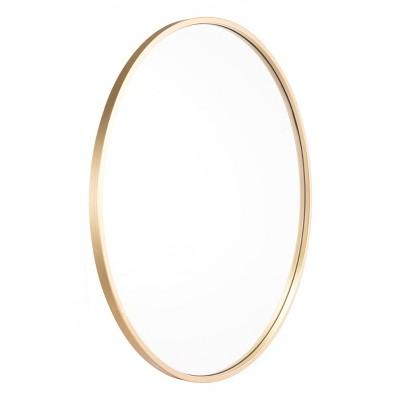 """ZM Home 24"""" Modern Round Mirror Gold"""