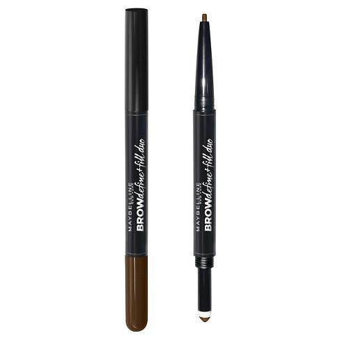 fd237161bd3 Maybelline Eyestudio Brow Define + Fill Duo 260 Deep Brown 0.021oz : Target