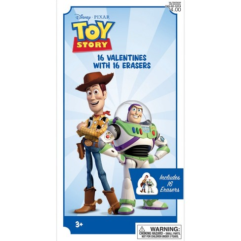 16ct Toy Story Valentine Card Pack With Erasers Target