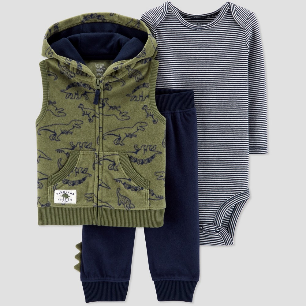Baby Boys' Dino 3pc Set - Just One You made by carter's Green 12M