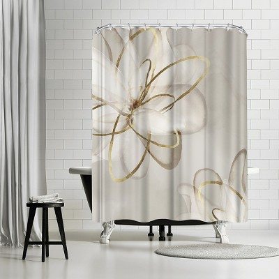 """Americanflat Transparent Beauty I by Pi Creative Art 71"""" x 74"""" Shower Curtain"""
