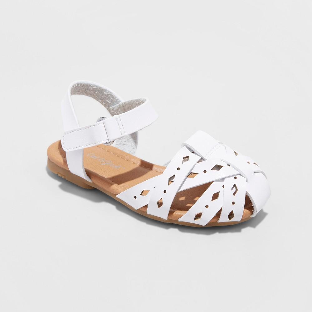 Toddler Girls' Elysia Huarache Sandals - Cat & Jack White 8