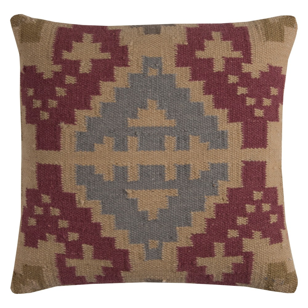 Rizzy Home Southwestern Throw Pillow Red