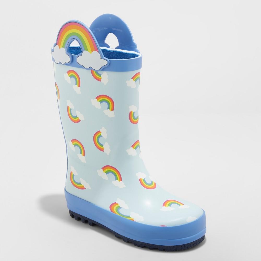 Toddler Girls' Reveliza Rain Boots - Cat & Jack Blue 11