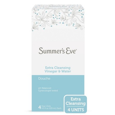 Summer's Eve Extra Cleansing Vinegar and Water Feminine Douche - 4ct