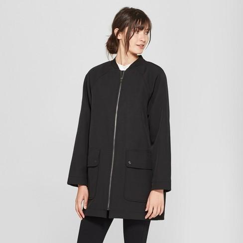 b15150138 Women's Long Sleeve Oversized Bomber Jacket - Prologue™ Black