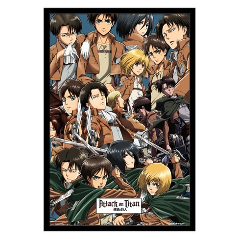 Attack On Titan - Collage Framed Poster Trends International - image 1 of 5