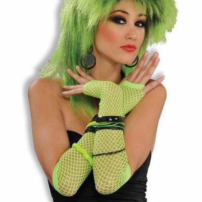 Forum Novelties Fishnet Fingerless Long Costume Glove Green