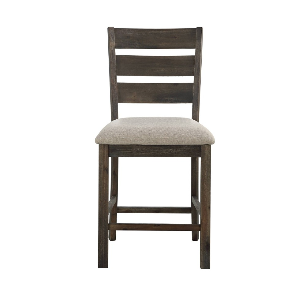 Image of 2pk Aspen Court Counter Height Dining Chairs Charcoal Gray - Treasure Trove