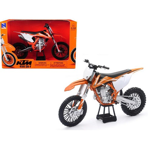 Ktm 450 Sx F Dirt Bike Orange And White 110 Diecast Motorcycle Model By New Ray