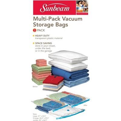 Sunbeam Plastic Vacuum Storage Bag, (Pack of 3)