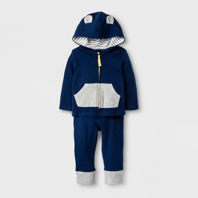 Baby Boys' Hoodie & Pant Set - Cloud Island™ Blue 3-6M