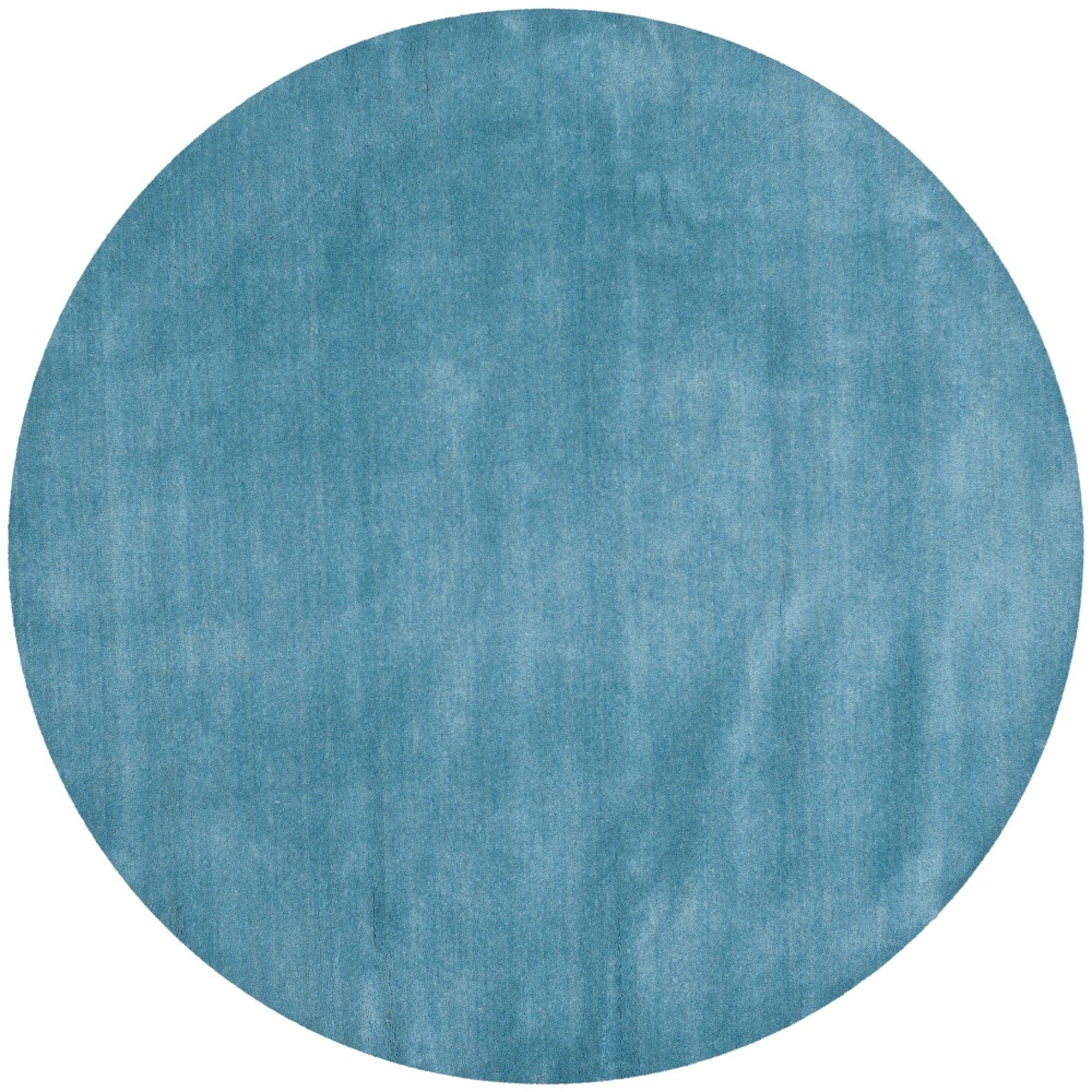 8' Solid Tufted Round Area Rug Blue - Safavieh