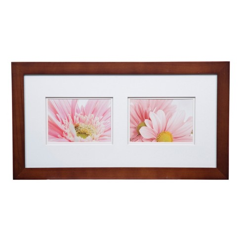 Multiple Image 10x20 Wide Walnut Whitedouble Mat To 2 5x7 Frame