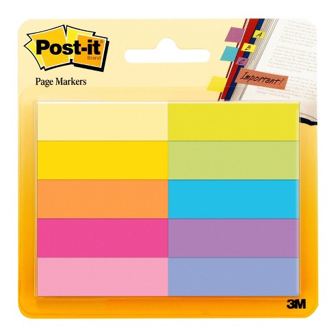 """Post-it 10pk 1/2""""x2"""" Page Markers Assorted Bright Colors - image 1 of 3"""