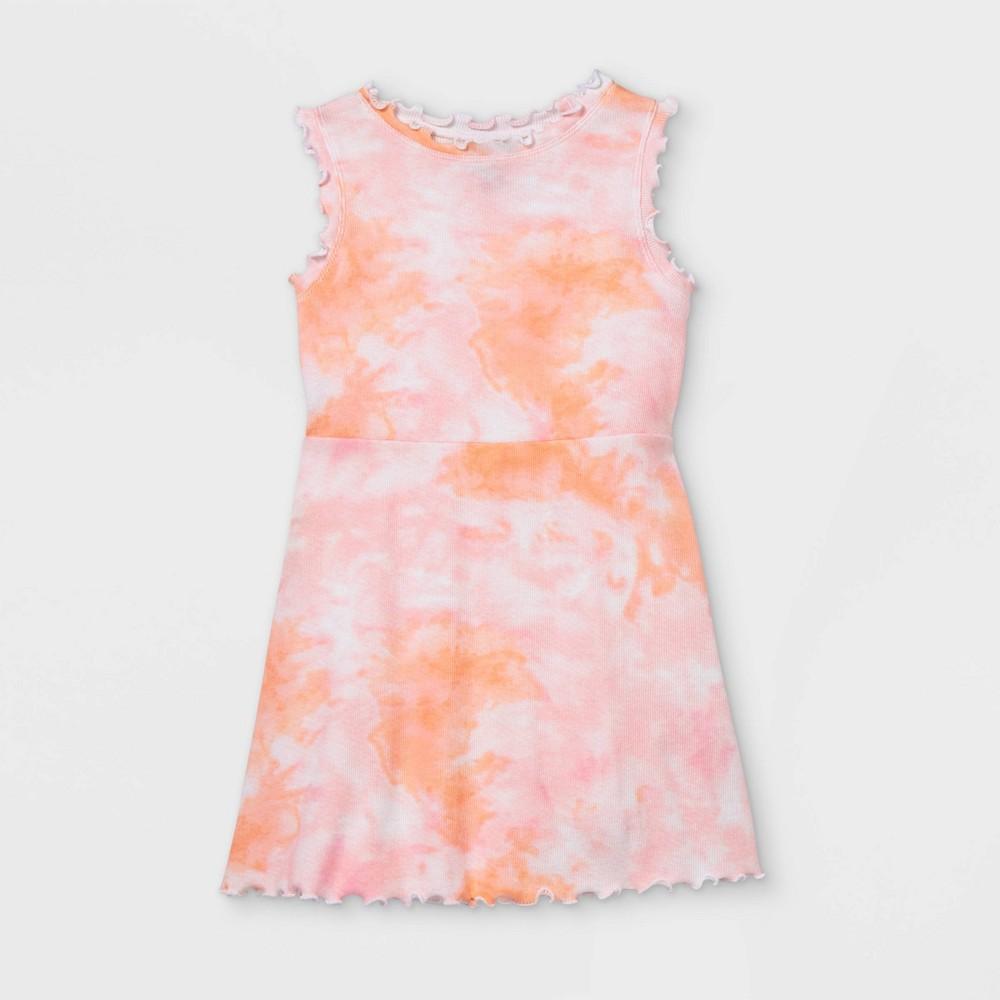 Toddler Girls 39 Rib Tank Dress Art Class 8482 Pink Orange 3t