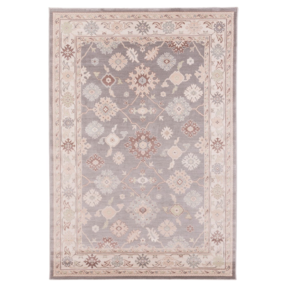 Gray Shadow Solid Tufted Area Rug - (5'2