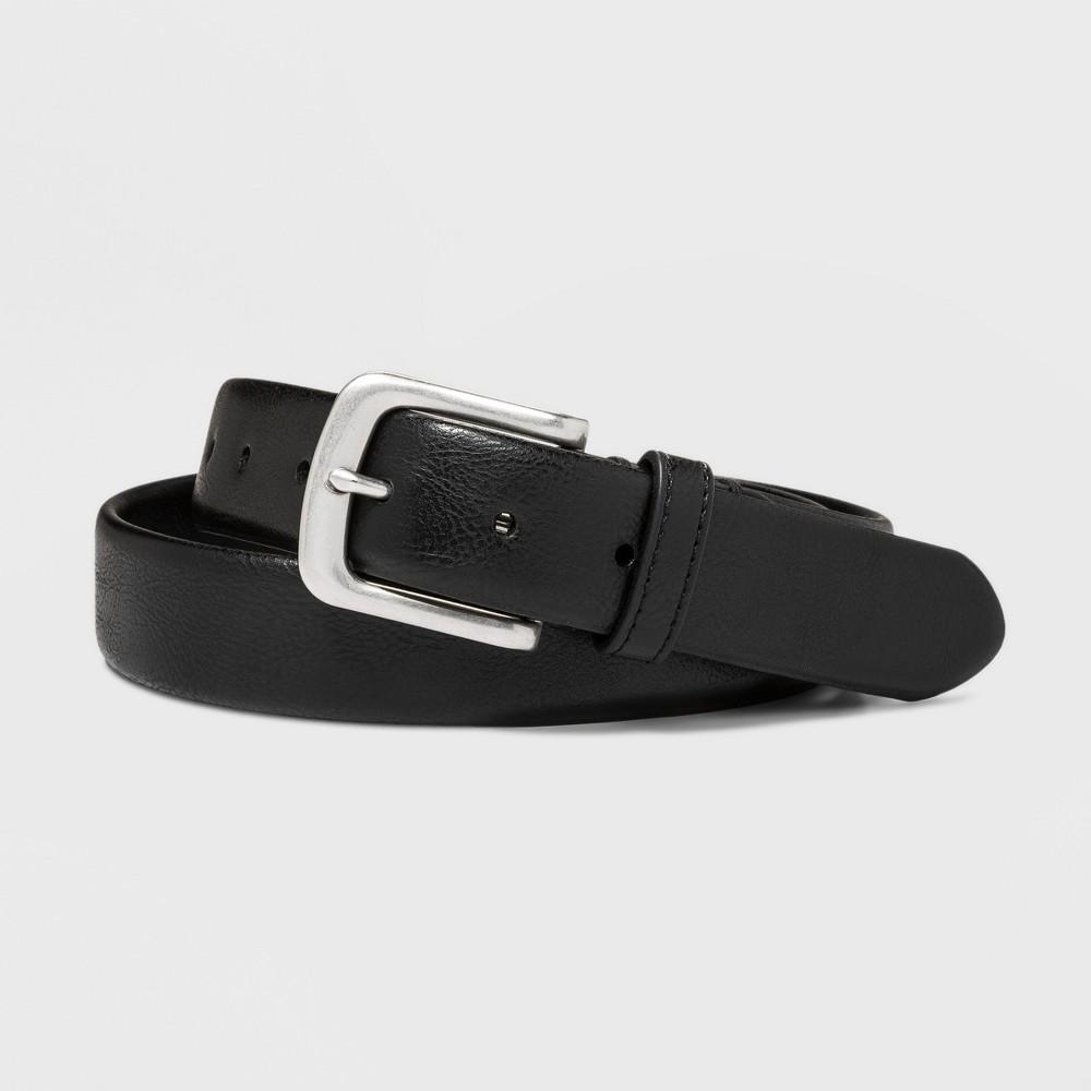 Men's 35mm Tubular Stretch Belt - Goodfellow & Co Black L