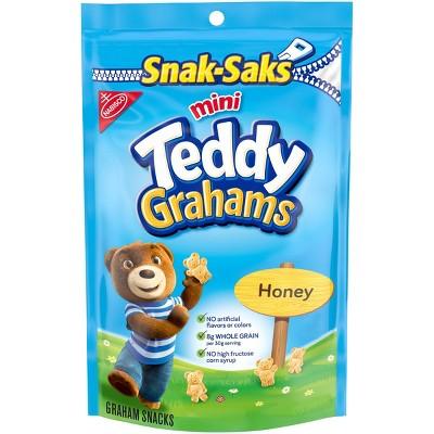Teddy Grahams Honey Graham Snacks Snack-Sak - 8oz