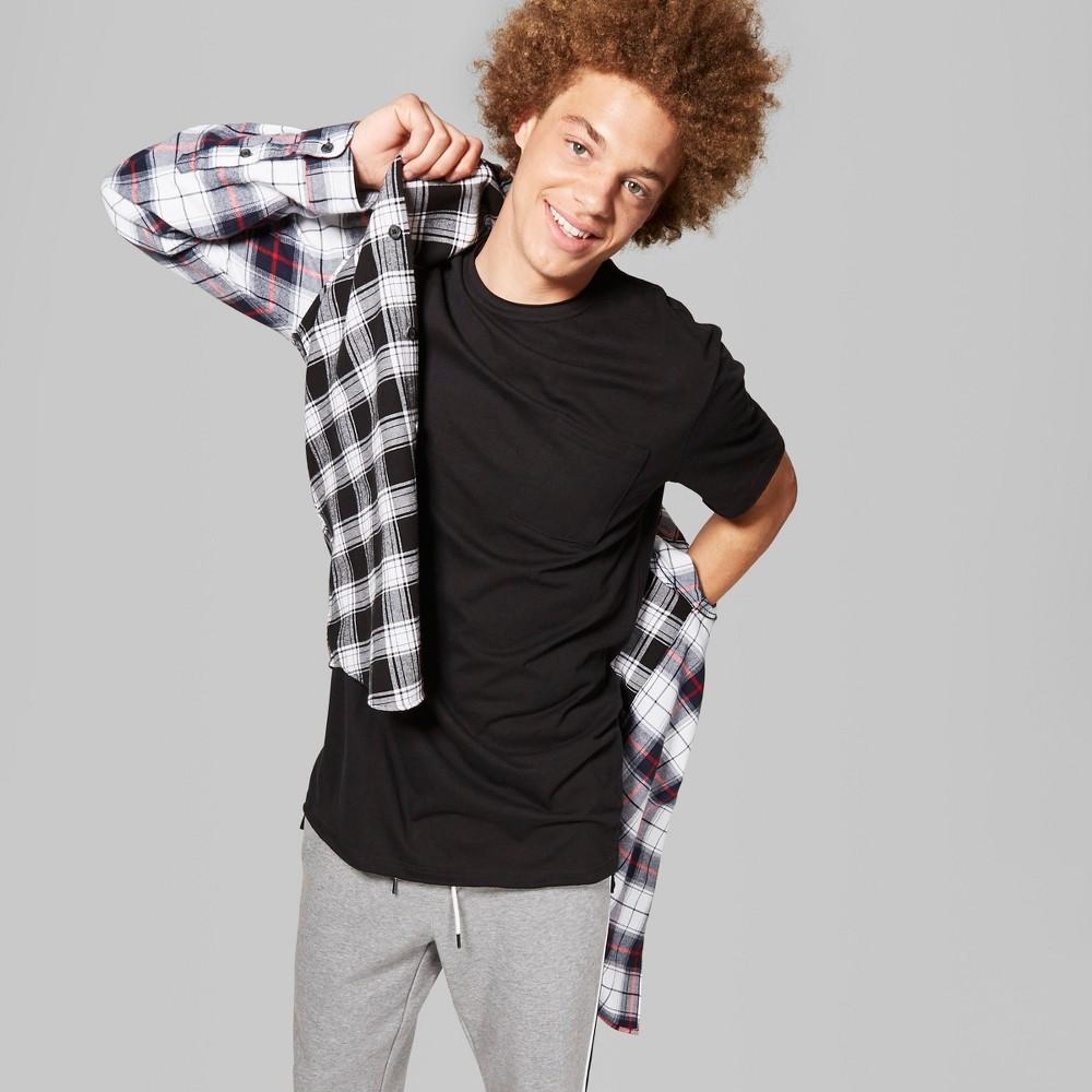 Men's Short Sleeve Long Line T-Shirt - Original Use Black 2XL
