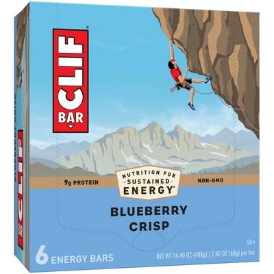 CLIF Bar Blueberry Crisp Energy Bars - 6ct