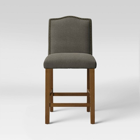 Swell 24 Camelot Nailhead Trim Counter Stool Hardwood Threshold Pdpeps Interior Chair Design Pdpepsorg