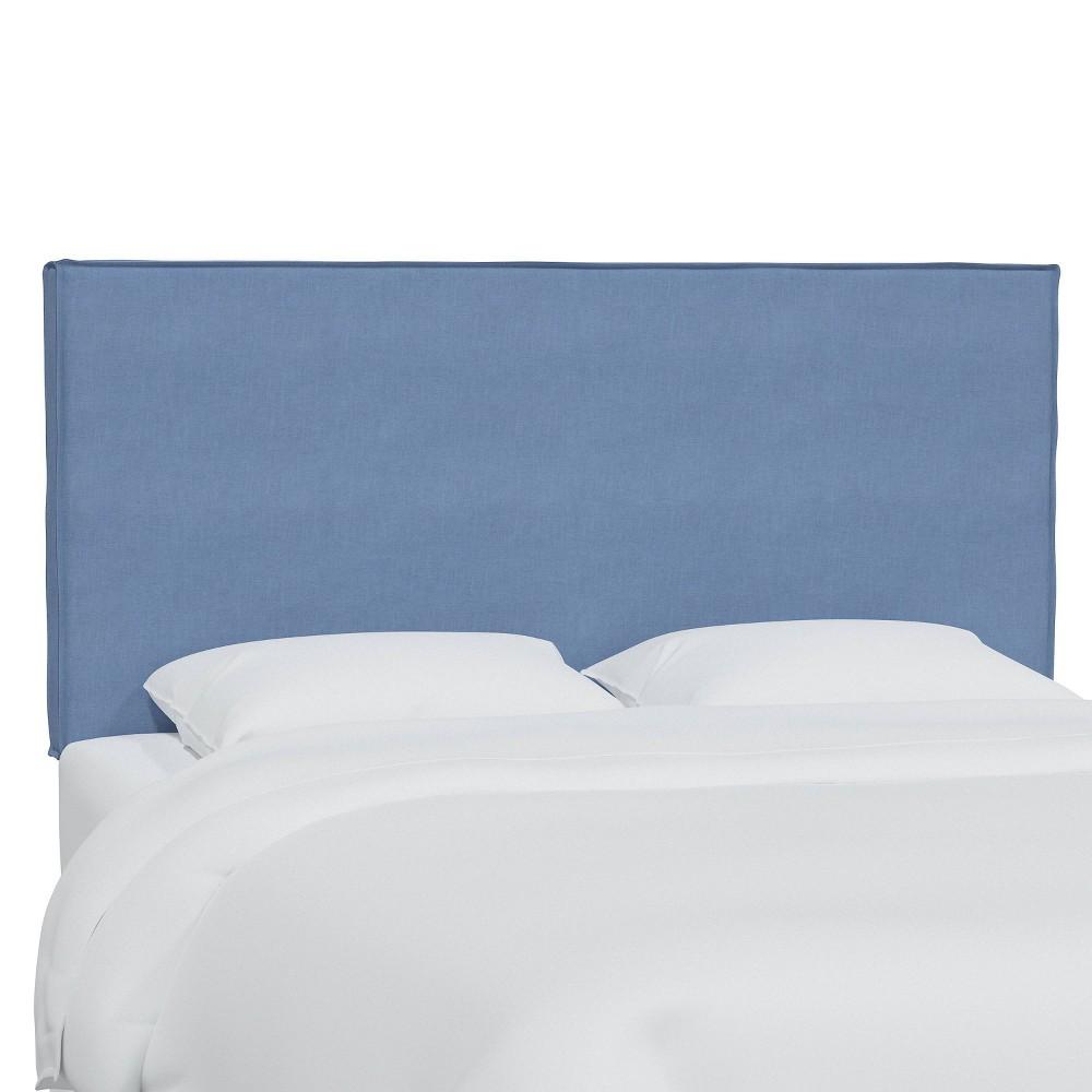 King Linen Slipcover Headboard Denim Skyline Furniture
