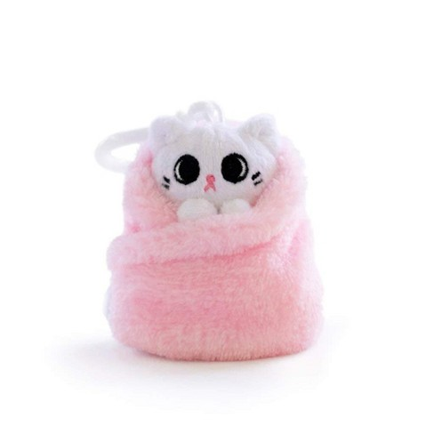 Hashtag Collectibles Purritos 3 Inch Cat In Blanket Plush Key Ring - Mochi - image 1 of 1