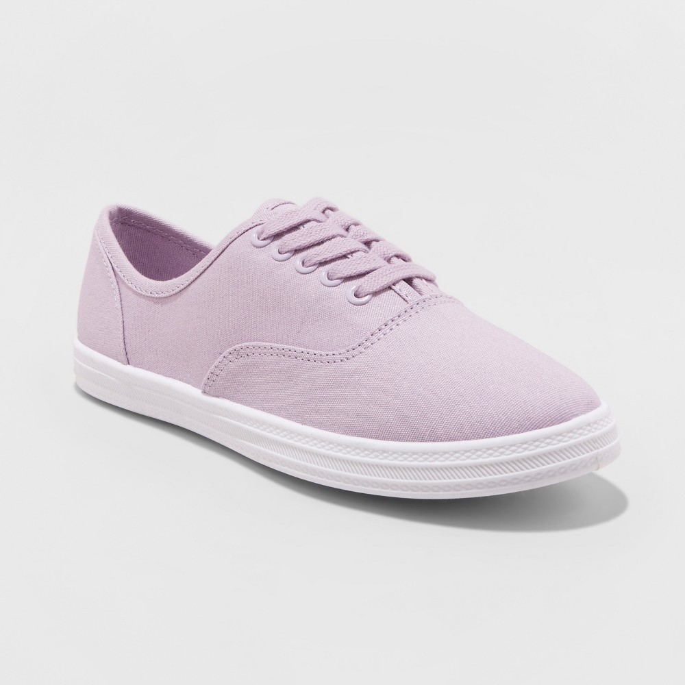 Women's Emilee Lace Up Canvas Sneakers - Wild Fable Lavender (Purple) 12