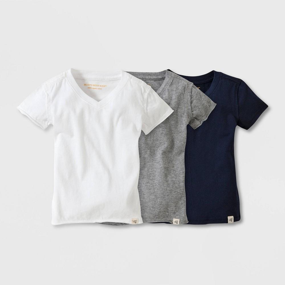 Image of petiteBurt's Bees Baby 3pc Short Sleeve Reverse Seam V-Neck Organic Cotton T-Shirt - 3-6M, Kids Unisex