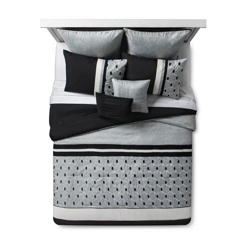 8pc Fairmont Embroidered Comforter Set, Target Gray Bedding Sets