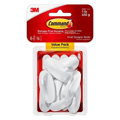 Command™ Small Designer Hooks, 8/pk