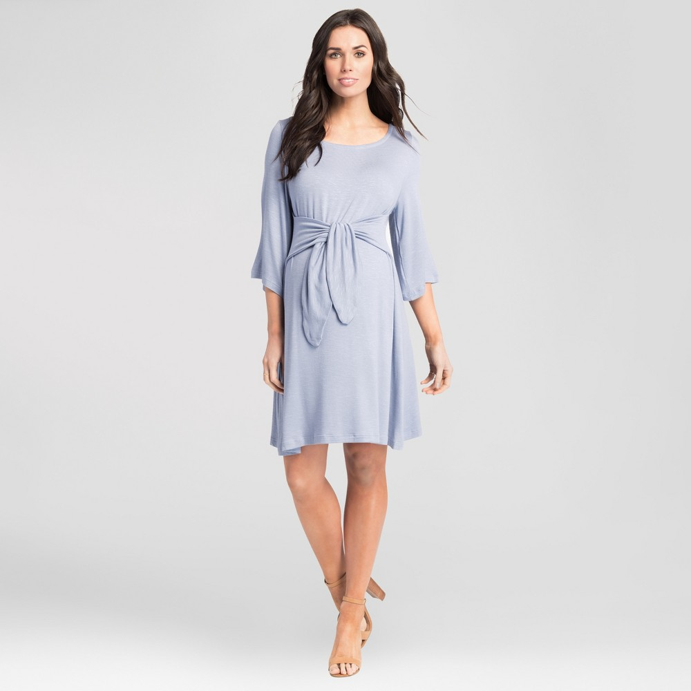 Maternity Tie Front Dress - Expected by Lilac - Blue M, Women's