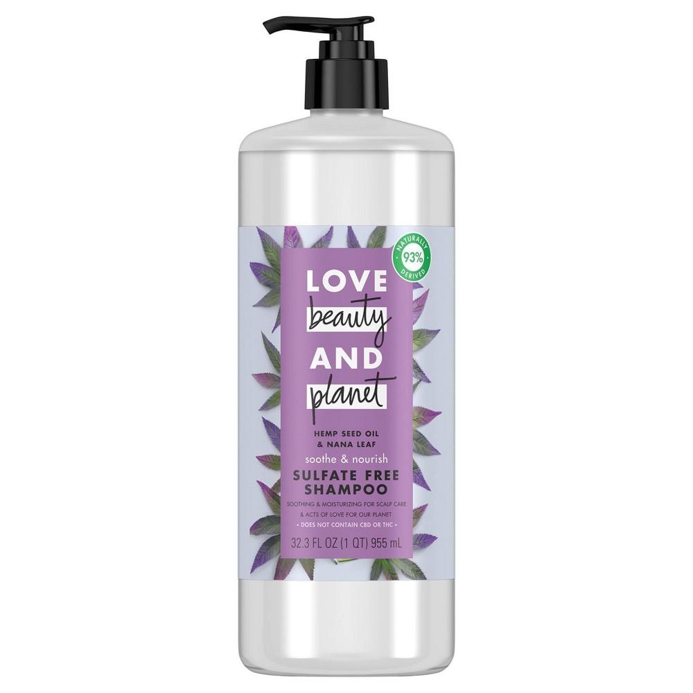 Love Beauty And Planet Soothe And Nourish Hemp Seed Shampoo 32 Fl Oz