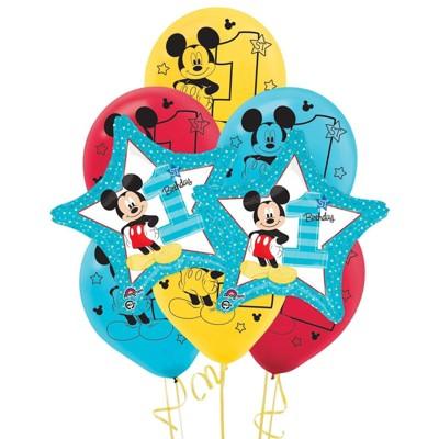 Birthday Express Mickey Mouse 1st Birthday Balloon Kit - 8 Pack