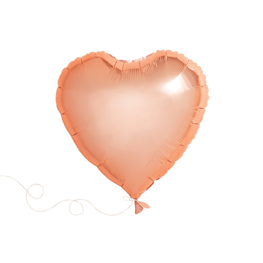 Image of 1ct Heart Shaped Foil Balloon Rose Gold - Spritz