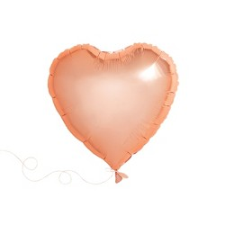 1ct Heart Shaped Foil Balloon Rose Gold - Spritz™