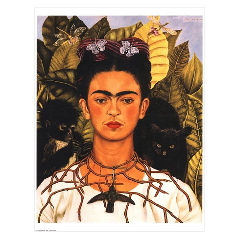 Portrait With Necklace By Frida Kahlo Unframed Wall Target