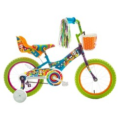 """Titan Bikes Flower Power Princess 16"""" Kids' Bike - Blue/Green, Girl's"""