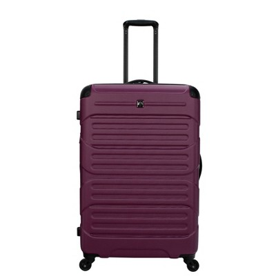 "Skyline 28"" Hardside Spinner Checked Suitcase - Berry"