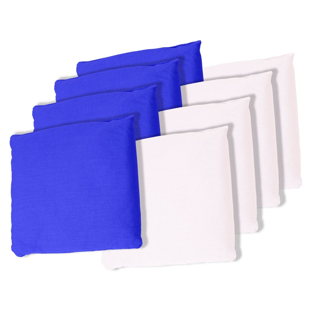 Trademark Games White and Blue Cornhole Bags Set of 8