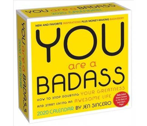 You Are a Badass 2020 Calendar -  by Jen Sincero (Paperback) - image 1 of 1