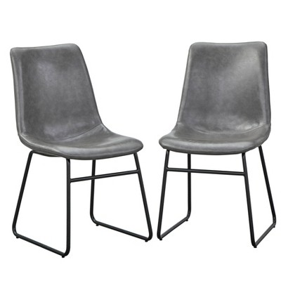 Set of 2 Lalana Dining Chairs Gray - angelo:HOME