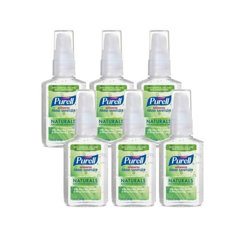 Purell Advanced Hand Sanitizer Naturals with Plant Based Alcohol Pump Bottle - 2 fl oz/6pk - image 1 of 2