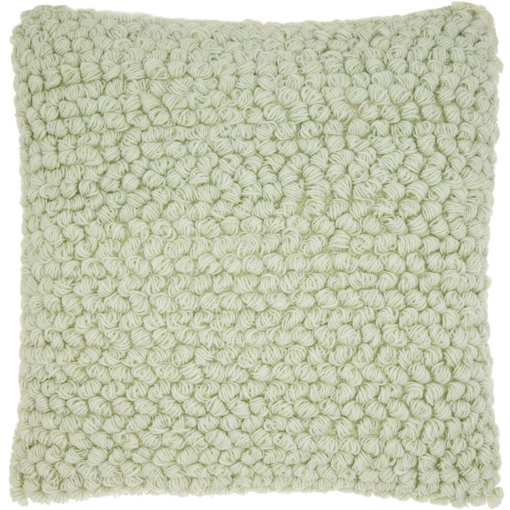 Thin Group Loops Oversize Square Throw Pillow Pastel Green - Mina Victory