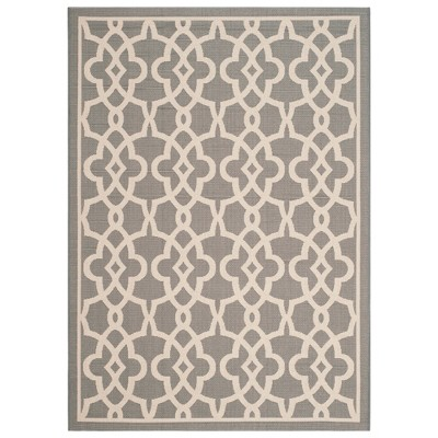 Sarthe Rectangle 5'3  X 7'7  Outdoor Rug - Gray / Beige - Safavieh®