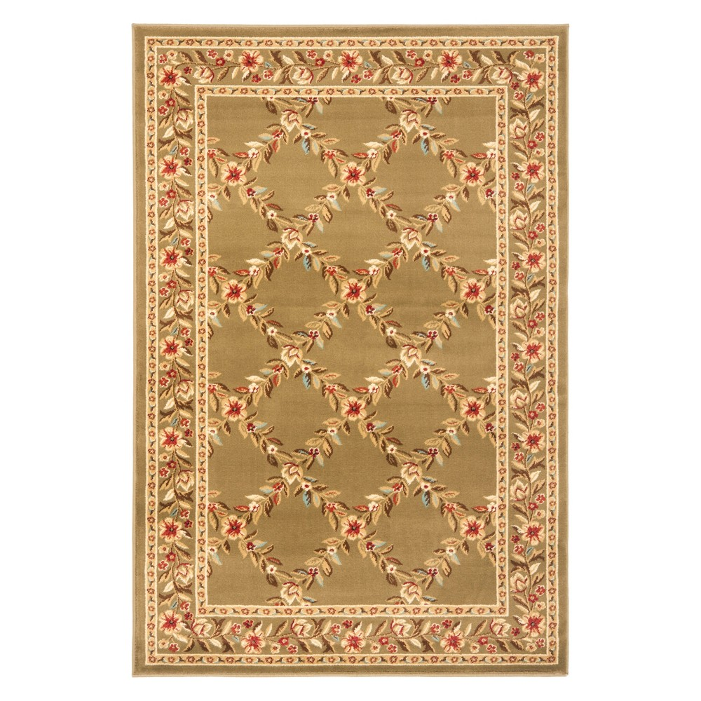 33X53 Floral Loomed Accent Rug Green - Safavieh Price