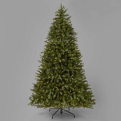 7.5ft Pre-Lit Full Cascade Fir Artificial Christmas Tree Clear LED Lights - Wondershop™