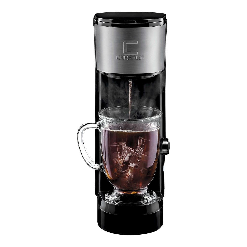 Image of Chefman InstaBrew Single-Serve K-Cup Coffee Maker - Black