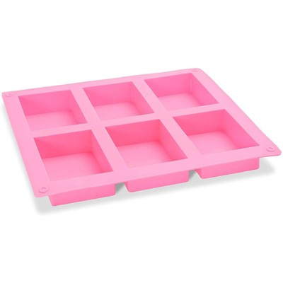 Bright Creations 4 Pack Rectangle Silicone Baking Molds, 24 Grids for Soap, Candy (8 x 8.6 x 1 In)